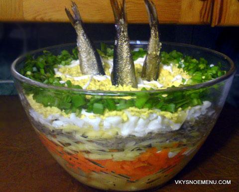 салат с шпротами