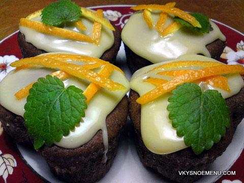 Шоколадные маффины с апельсином – кулинарный рецепт