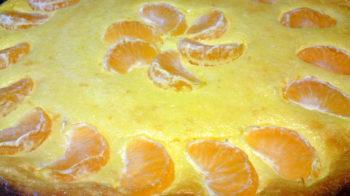 Творожная запеканка с мандаринами