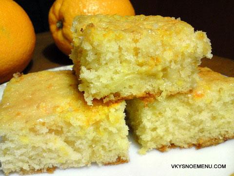 апельсиновый пирог на кефире