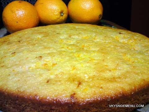 готовый апельсиновый пирог