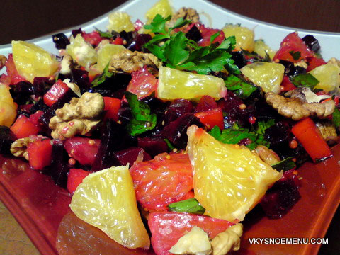 салат из свеклы с апельсином