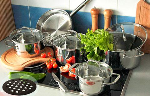 посуда необходимая на кухне