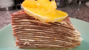 Апельсиновый блинный торт
