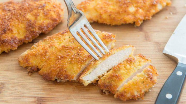 кусочки курицы в сырной панировке