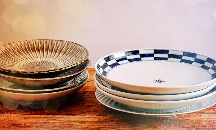 круглые тарелки в японском стиле