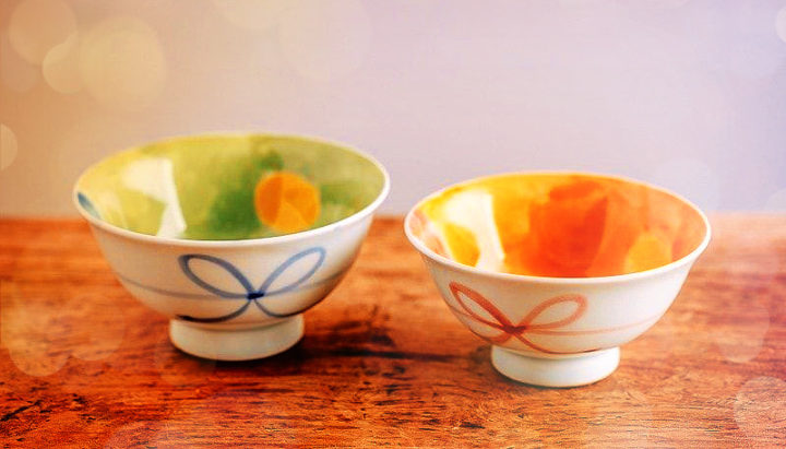 две чаши для риса японские